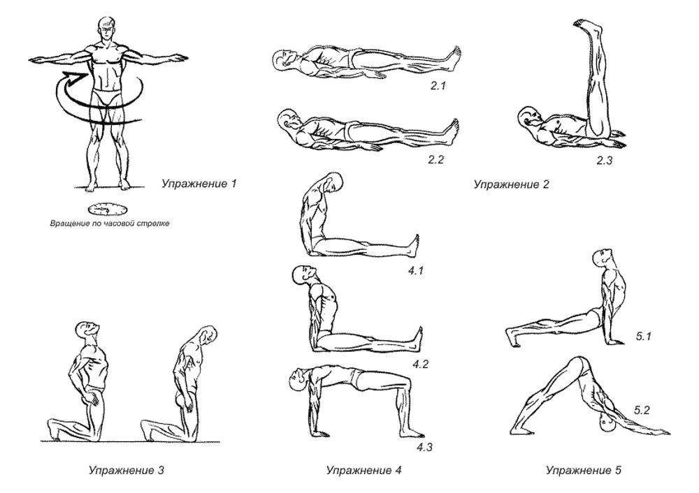 Комплекс упражнений тибетской омолаживающей гимнастики