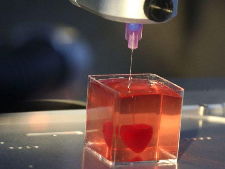 Напечатано первое 3D-сердце, с использованием биологических материалов пациента