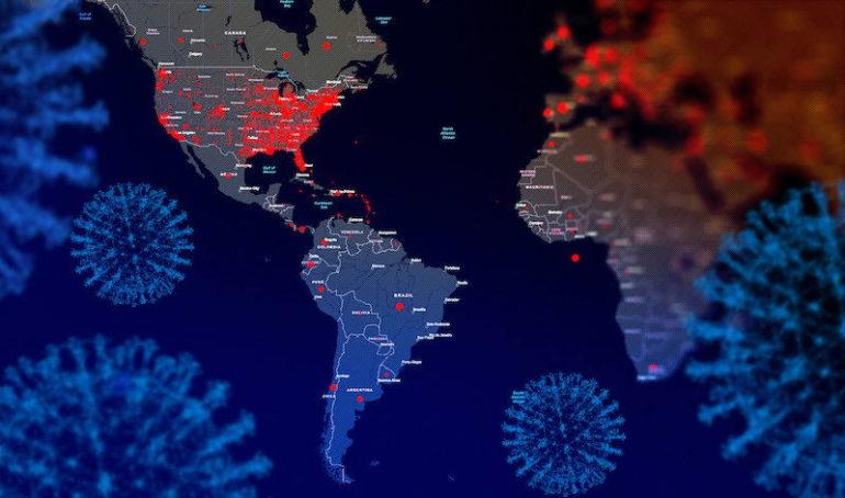 Как коронавирус распространялся в Северной Америке и Европе
